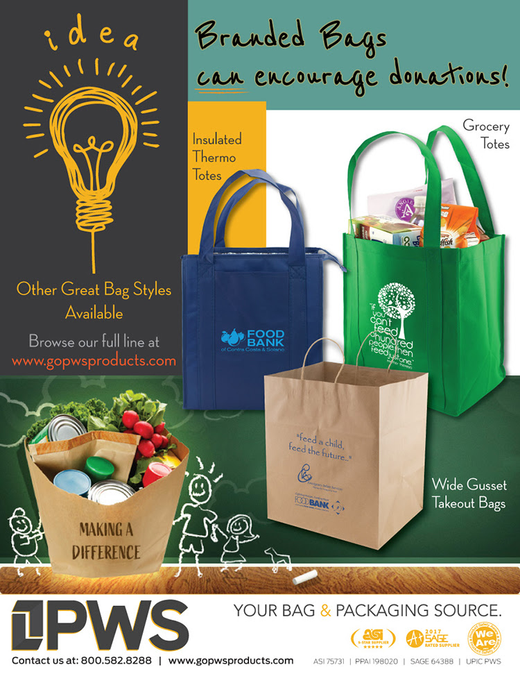 Branded bags can encourage donations