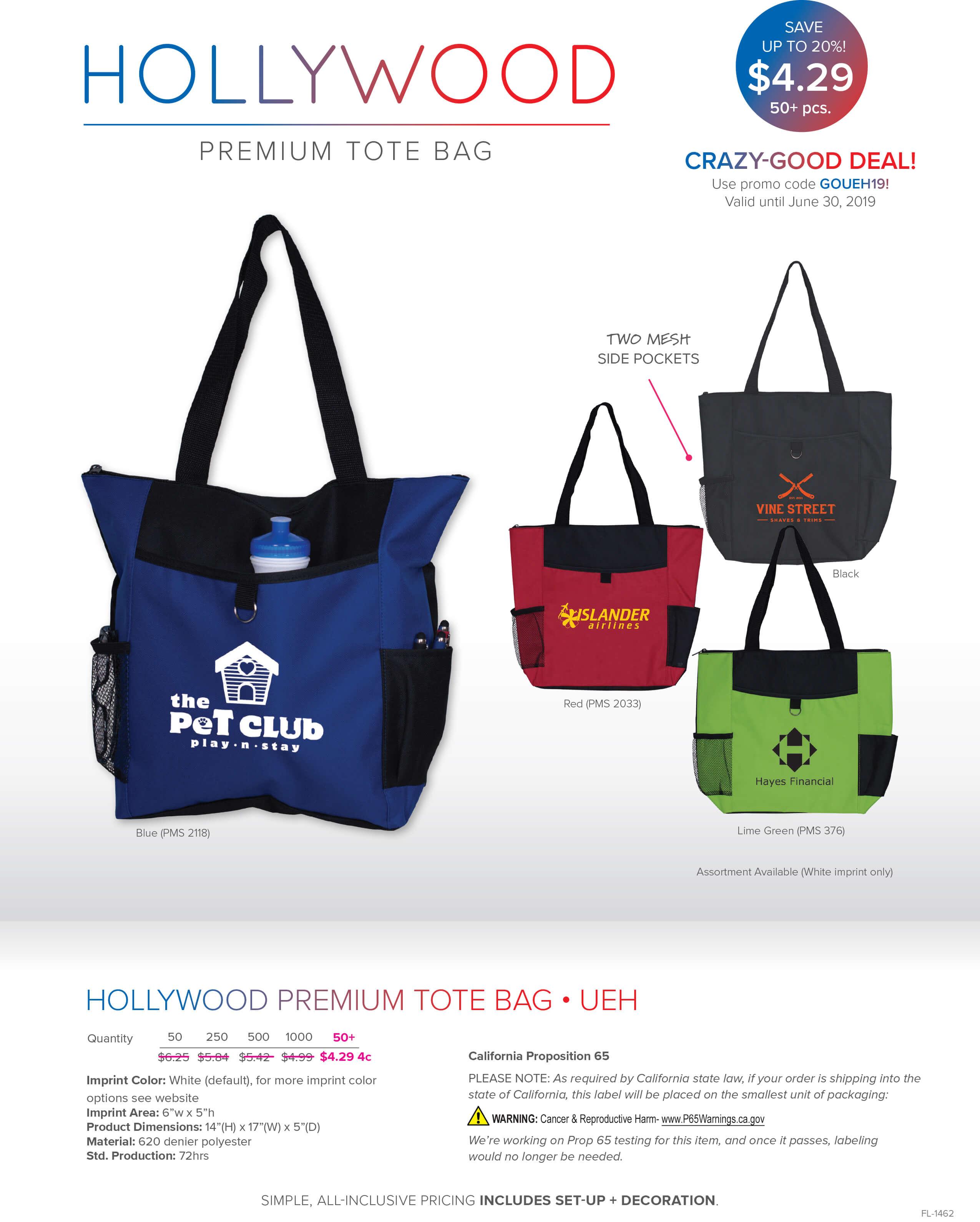 Crazy-Good Deal - Hollywood - Premium Tote Bag (UEH)
