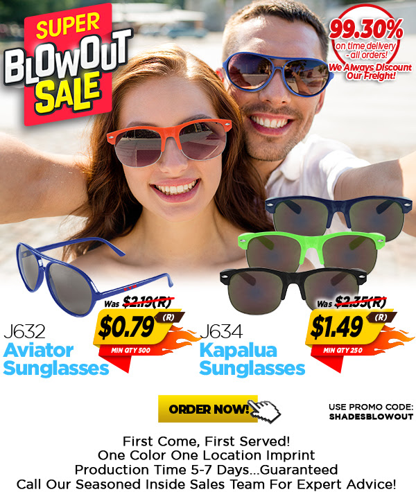 As low as $0.79(R) and $1.49(R) Sunglass Blowout!