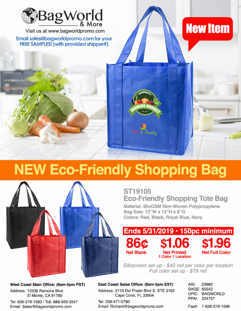 86¢ Eco-Friendly Shopping Tote Bag