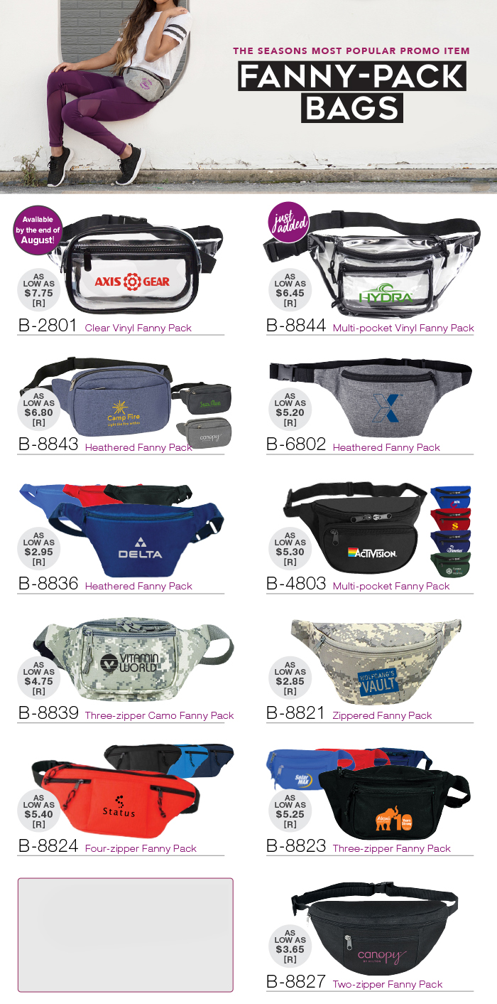 Popular Fanny-Pack Bags - NEW Product Added