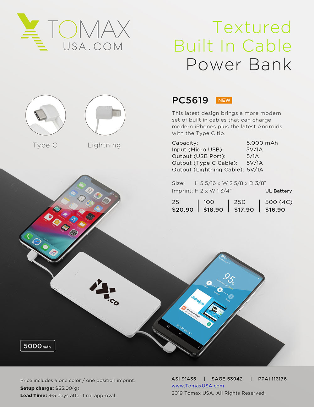 If it's Tuesday, it must be TOMAX!-- The Latest Low Price Attached Cable Power Bank