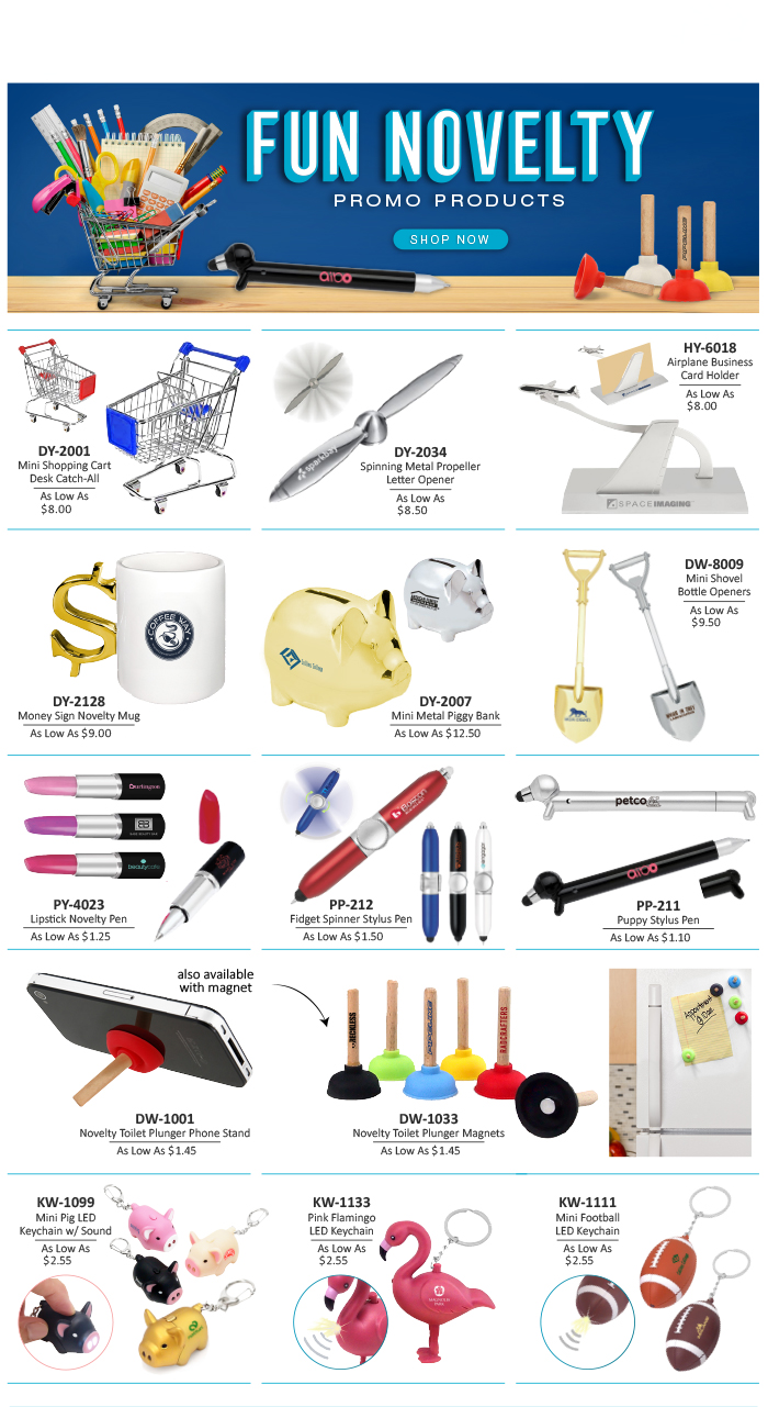 2020 Fun Novelty Promo Products