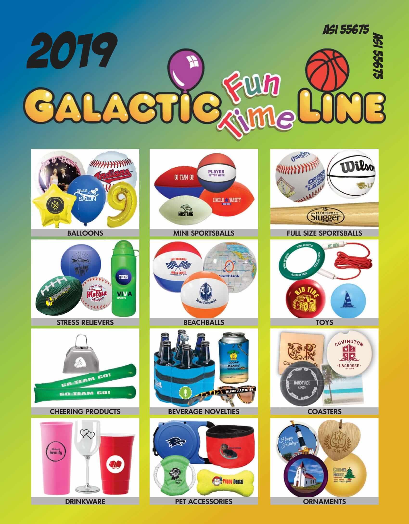 2019 Galactic Fun Time Line
