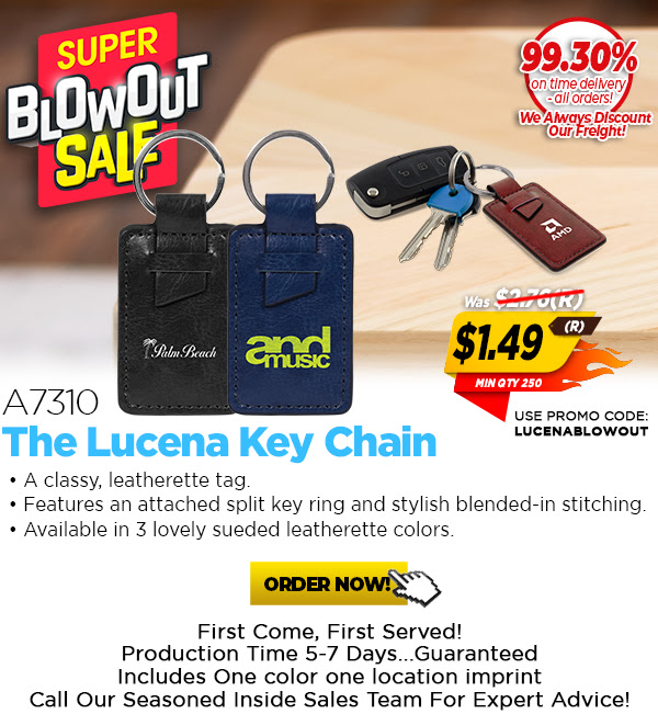 1.49(R) Super Blow Out Price on the A7310 Lucena Key Chains.