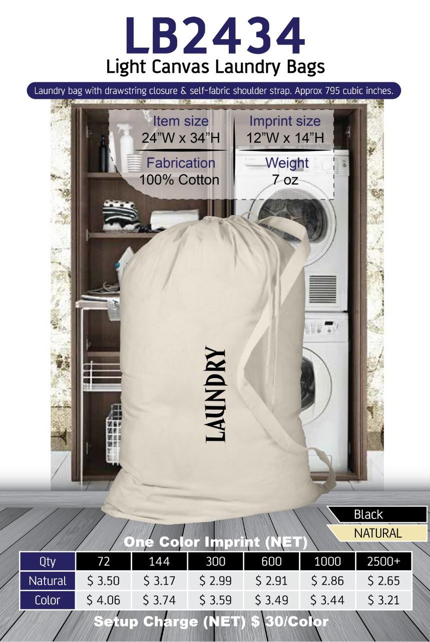 Light Canvas Laundry Bag