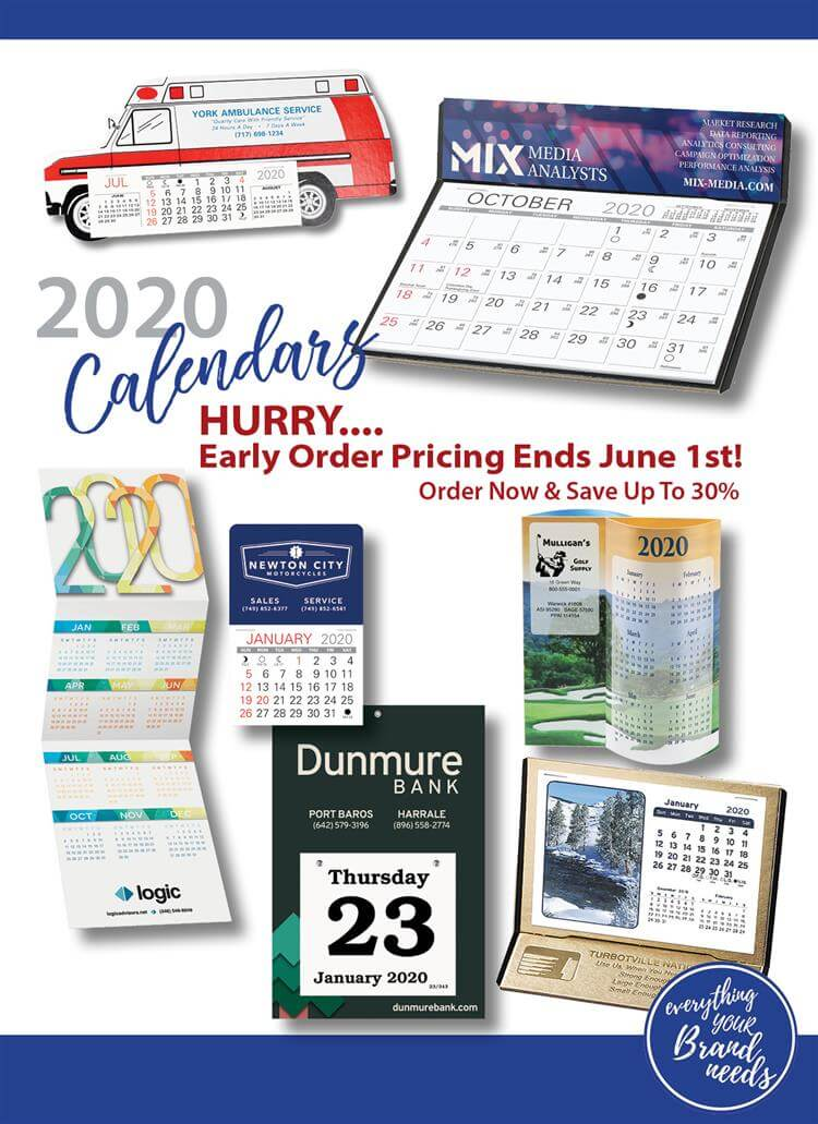 Early Order Pricing On Calendars