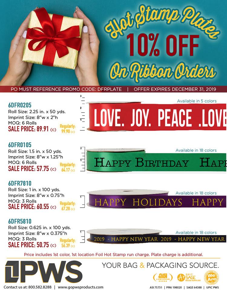 Printed Ribbon Sale