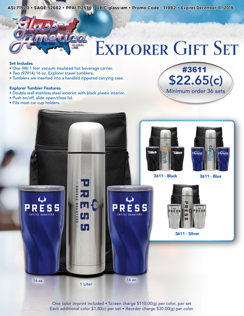 Explorer Gift Set by Glass America