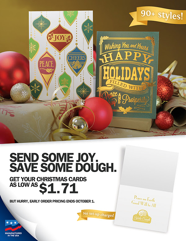 Christmas Cards Early Pricing Ends October 1 – Just One Month Left!