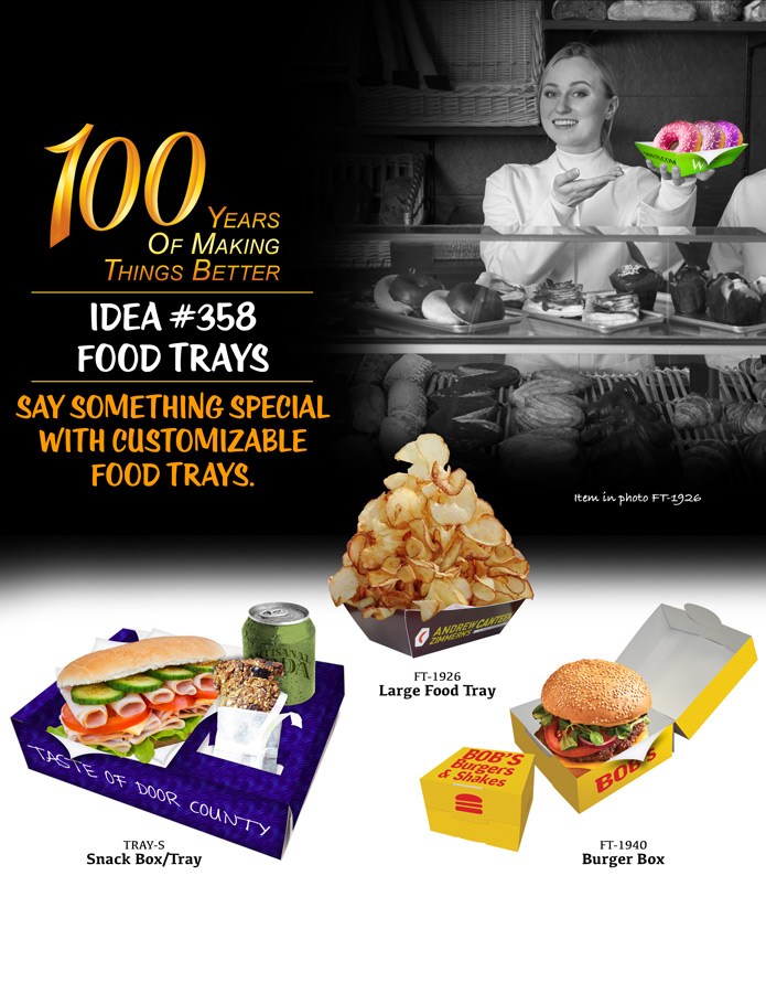 Say Something Special With Customizable Food Trays.
