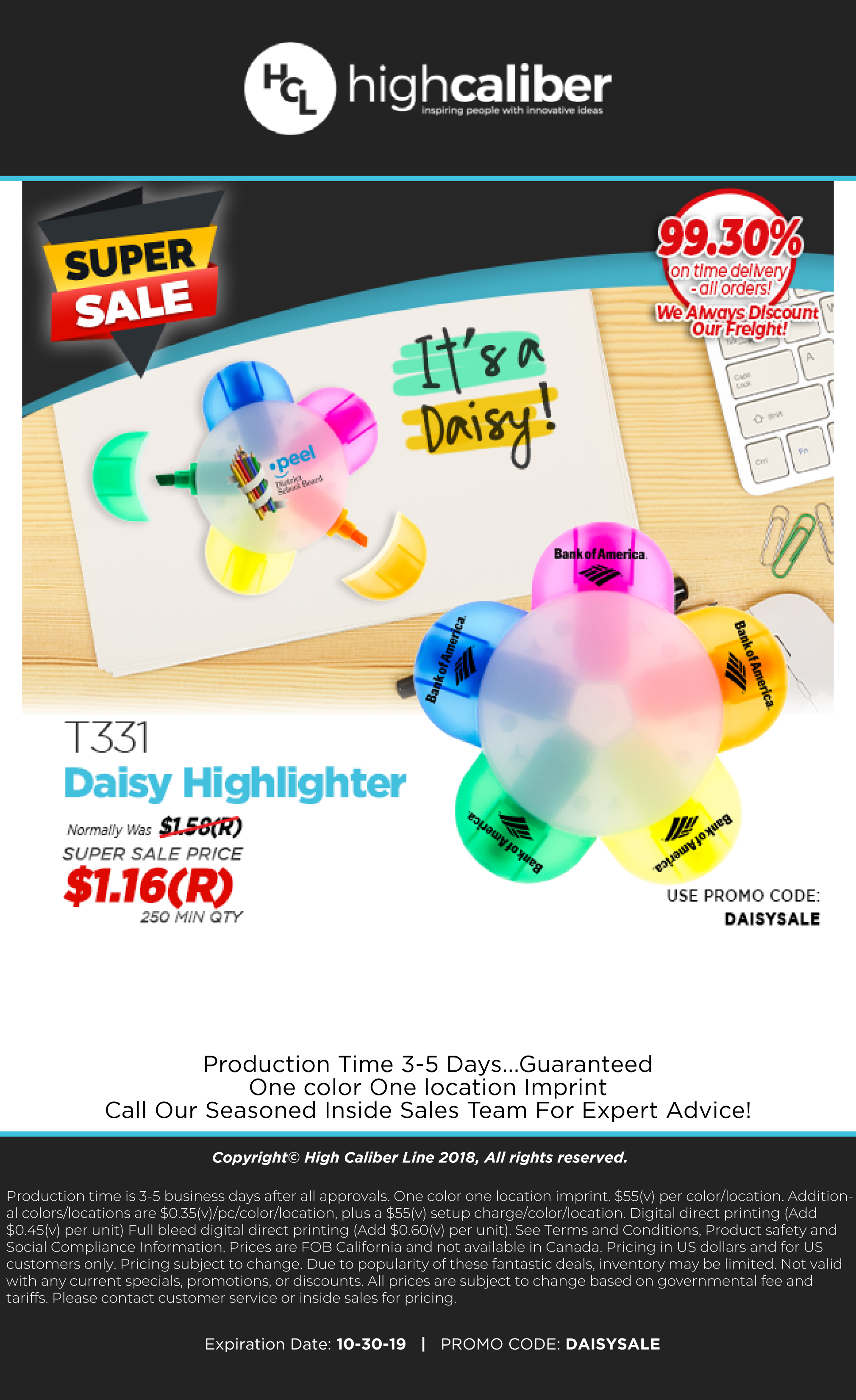 $1.16(R) Super Sale Price on the T331 Daisy Highlighter