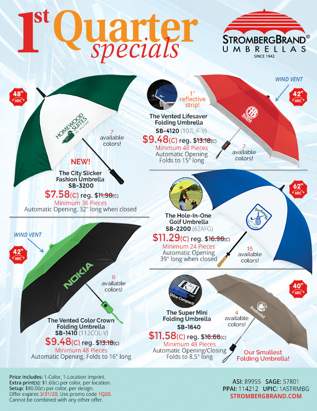 Great Umbrella Deals for the New Year