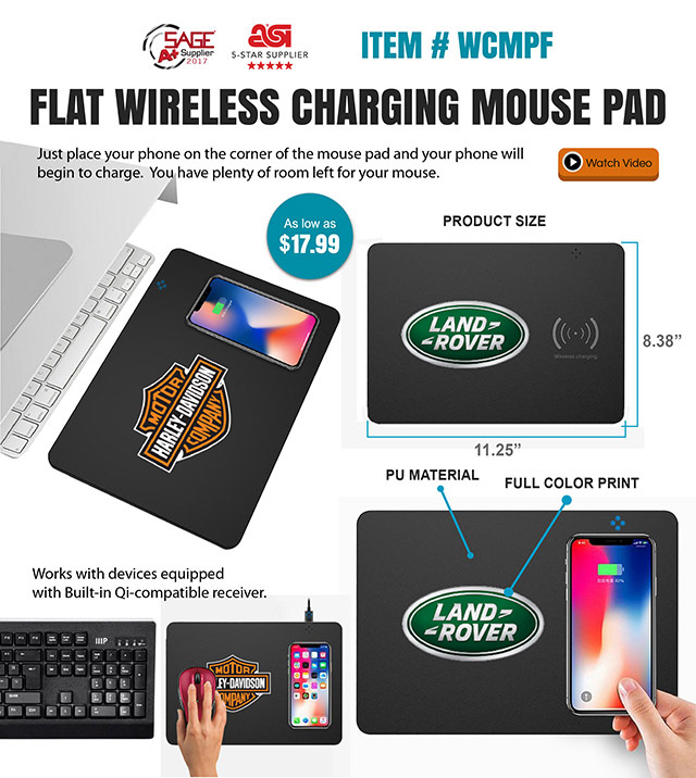 It's a wireless Charging Mouse Pad!