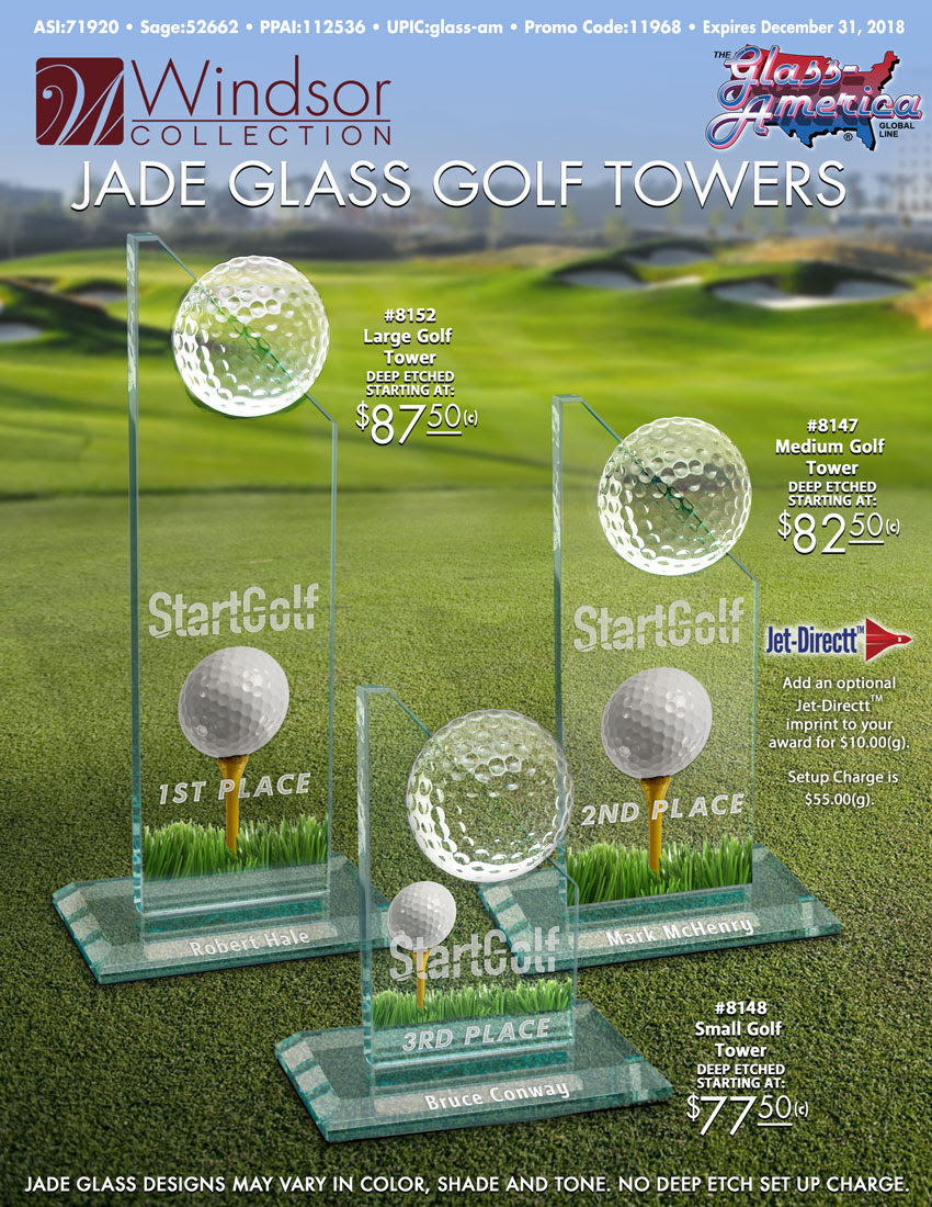 Jade Glass Golf Towers By The Windsor Collection