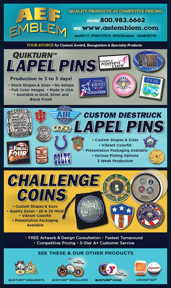 Quality! Lapel Pins and Challenge Coins!