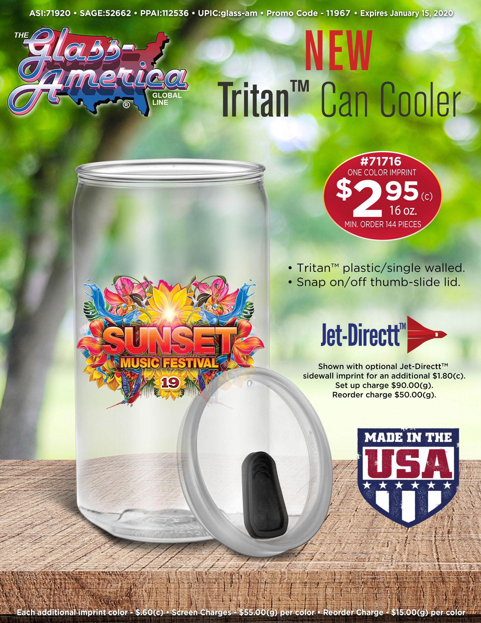 Tritan Can Cooler By Glass America