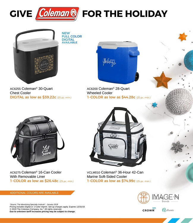 Ready, set, shop! Coleman Coolers make great holiday gifts