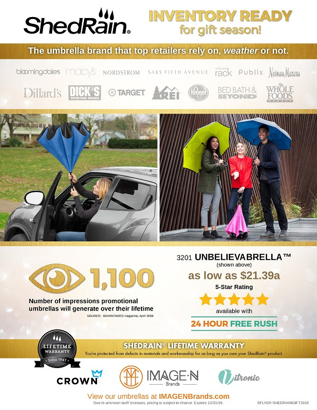 Don't miss out! Shop ShedRain umbrellas for gift season