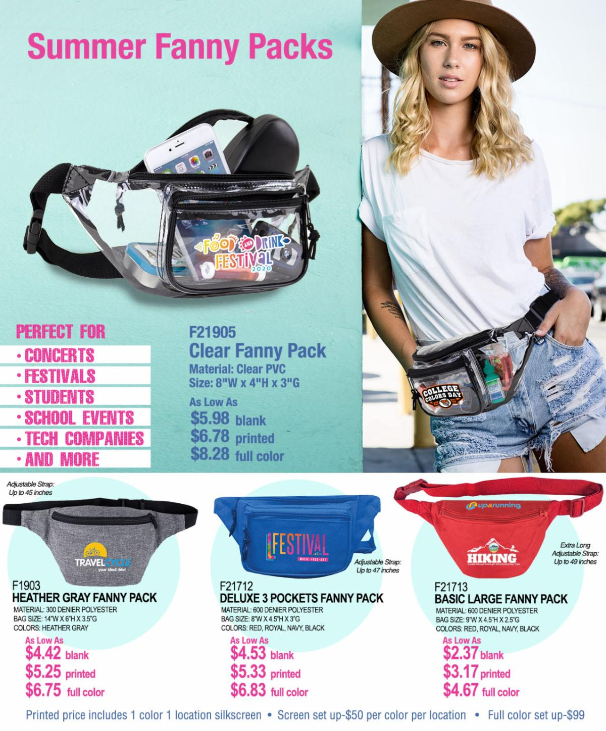Deep Inventory Clear Fanny Pack