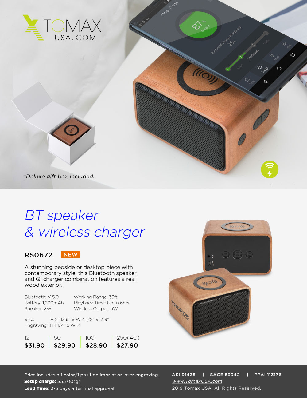 Bluetooth Speaker with wireless charger!