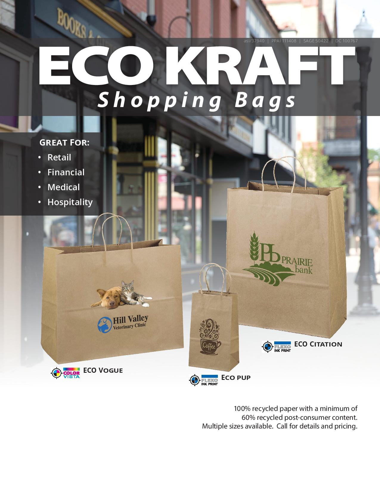 Eco Kraft Shopping Bags