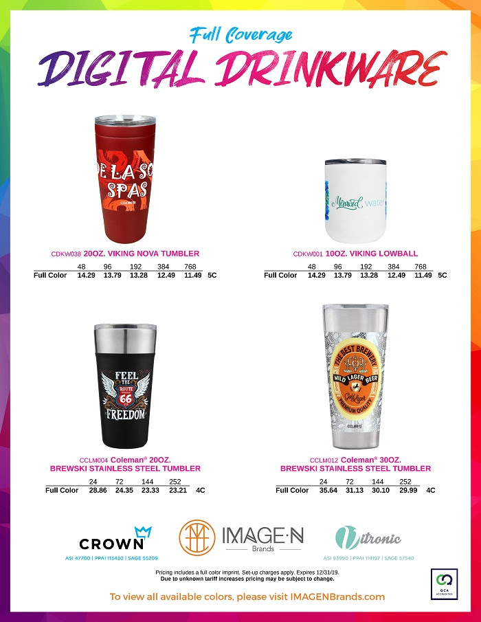 NEW! Digital Printing on Drinkware from Crown Products