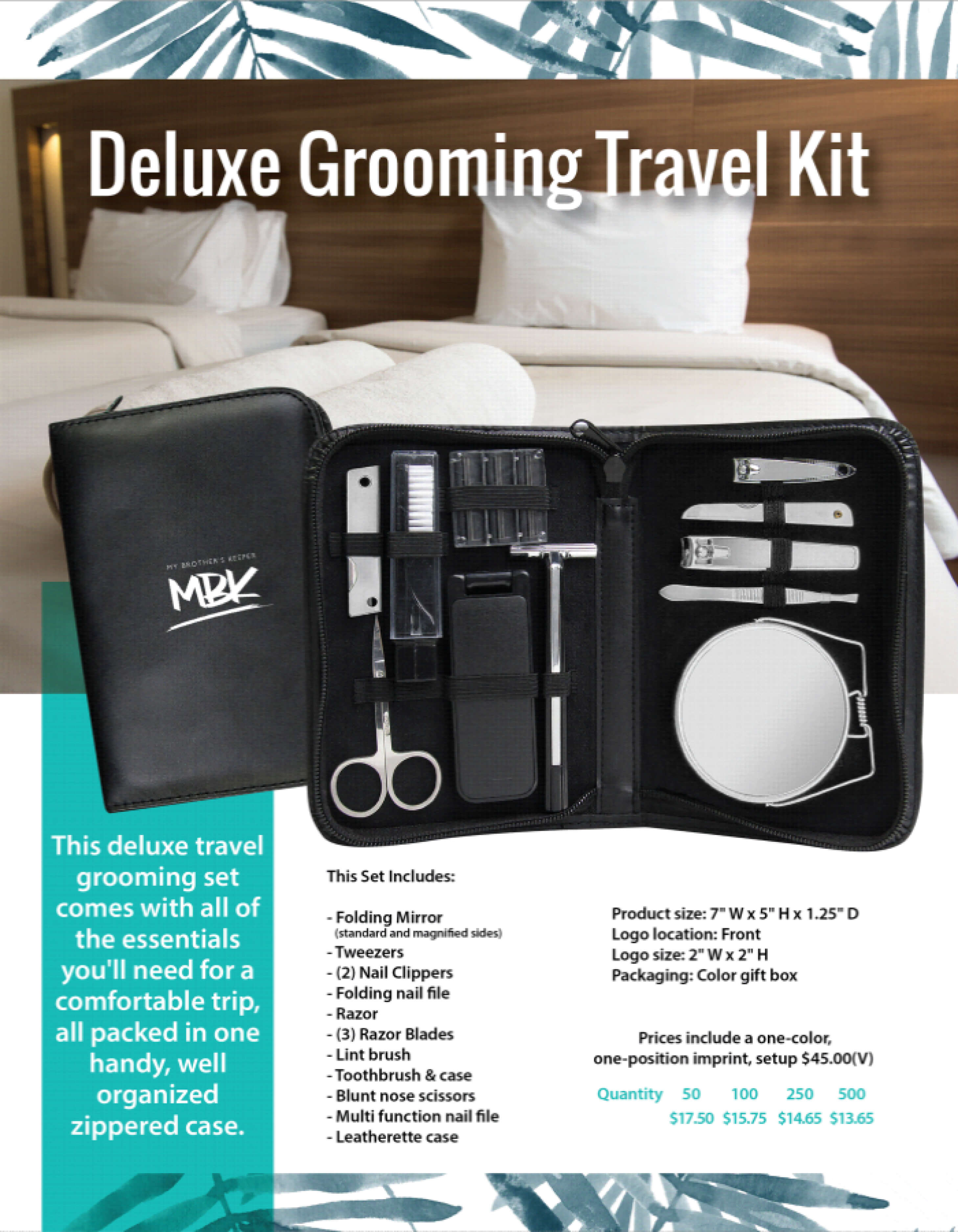 Our Travel Set Grooms Your Brand