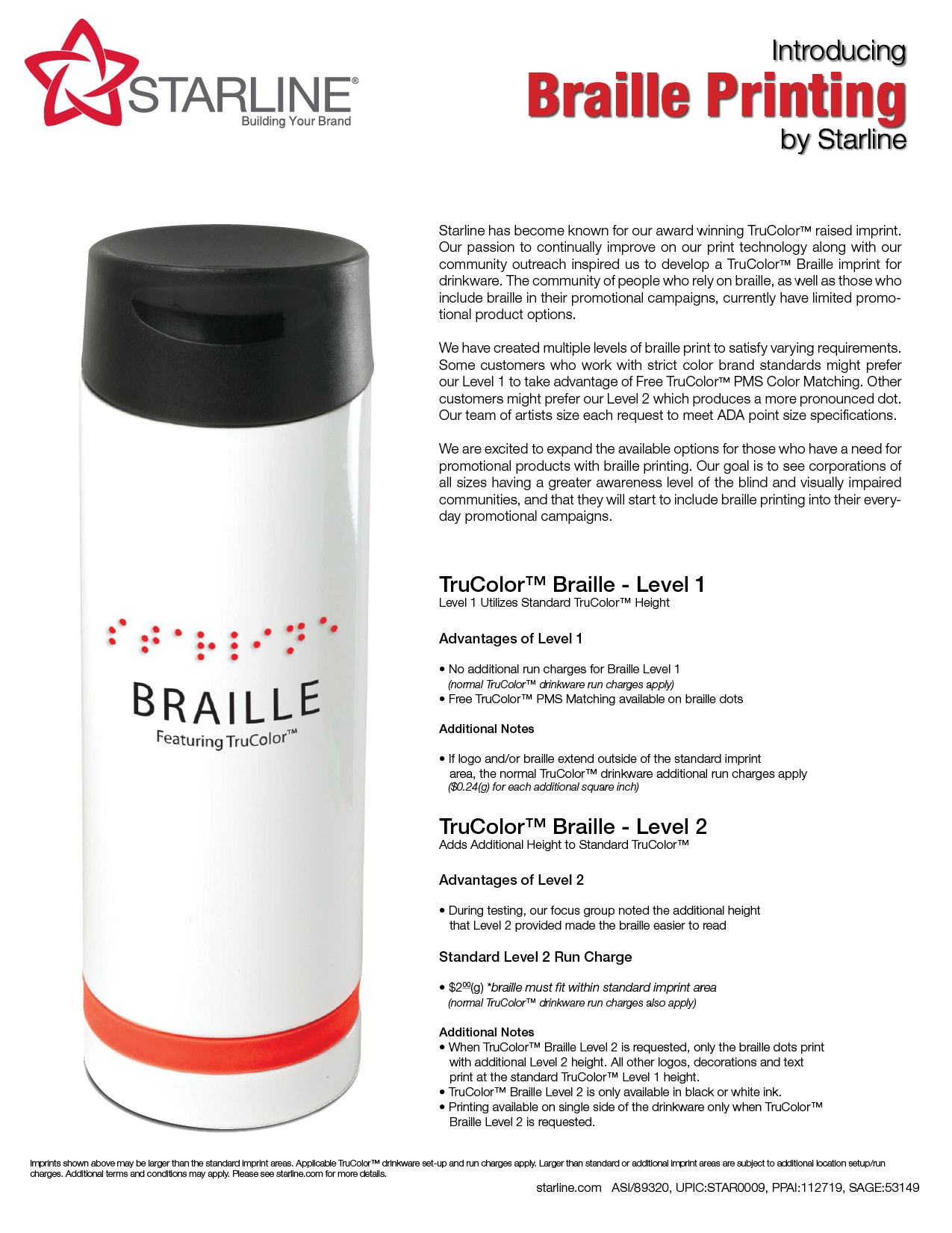 Braille Printing By Starline