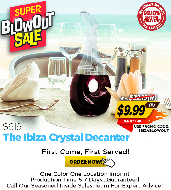 $9.99(R) Super Blowout Price on the S619 Ibiza Crystal Decanter