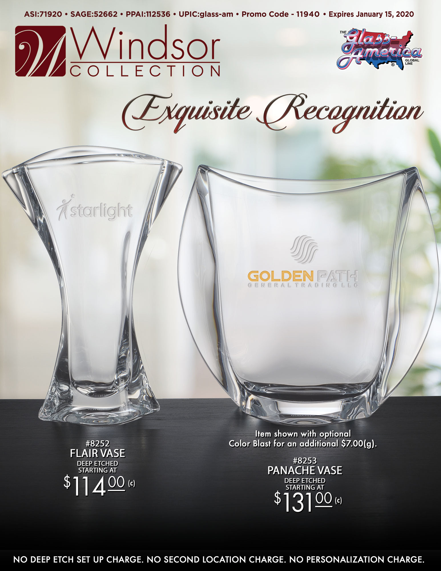 Award Vases by The Windsor Collection