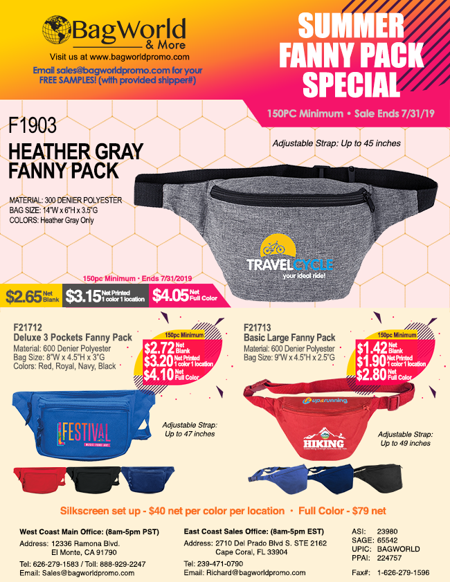 Heather Gray Fanny Pack Sale