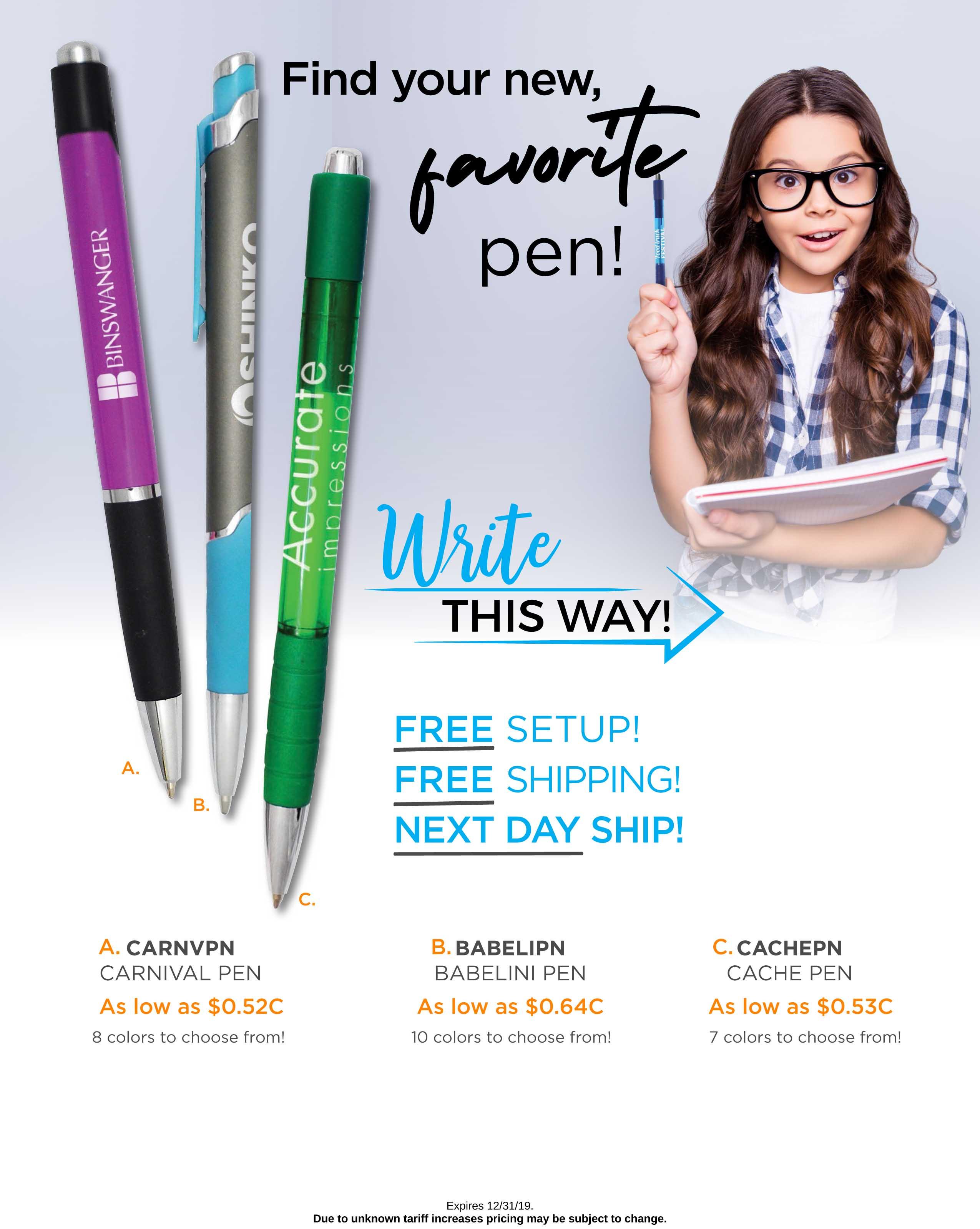 Write This Way - Pens