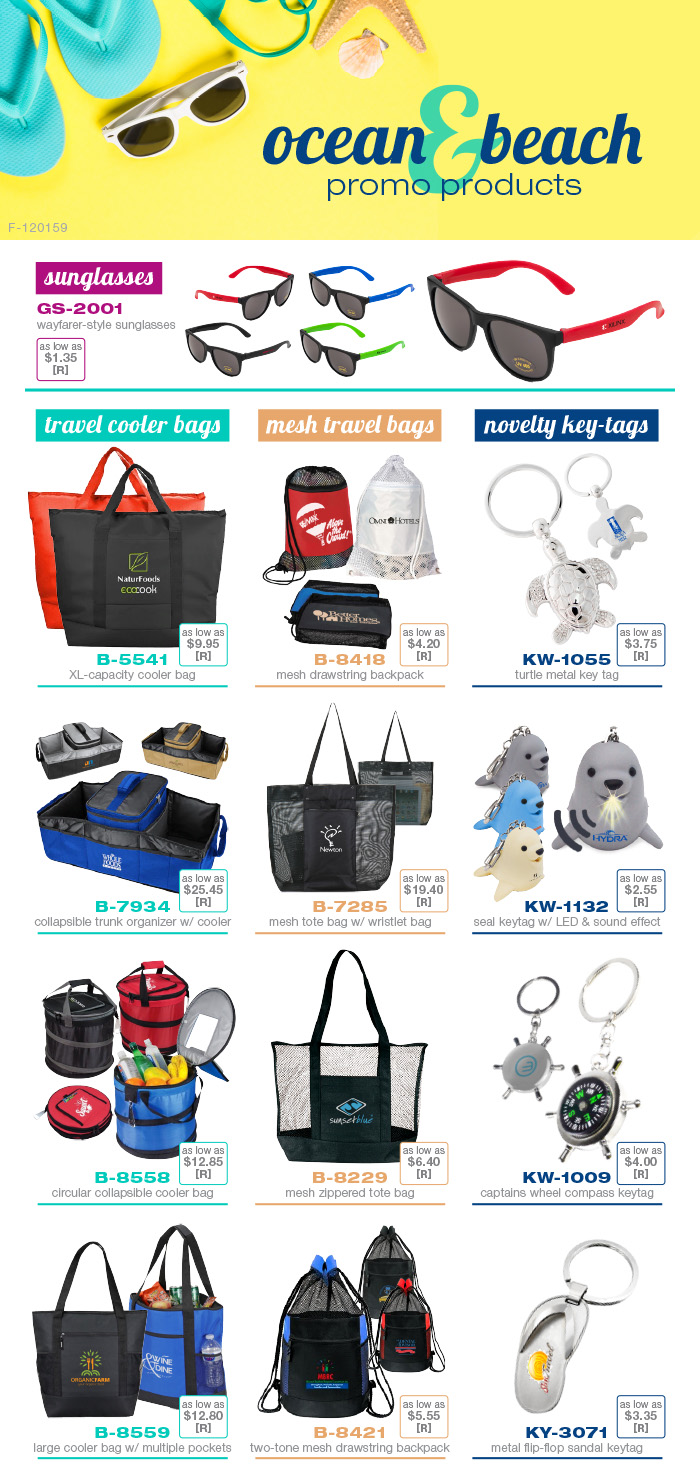 Ocean & Beach Themed Promo Products