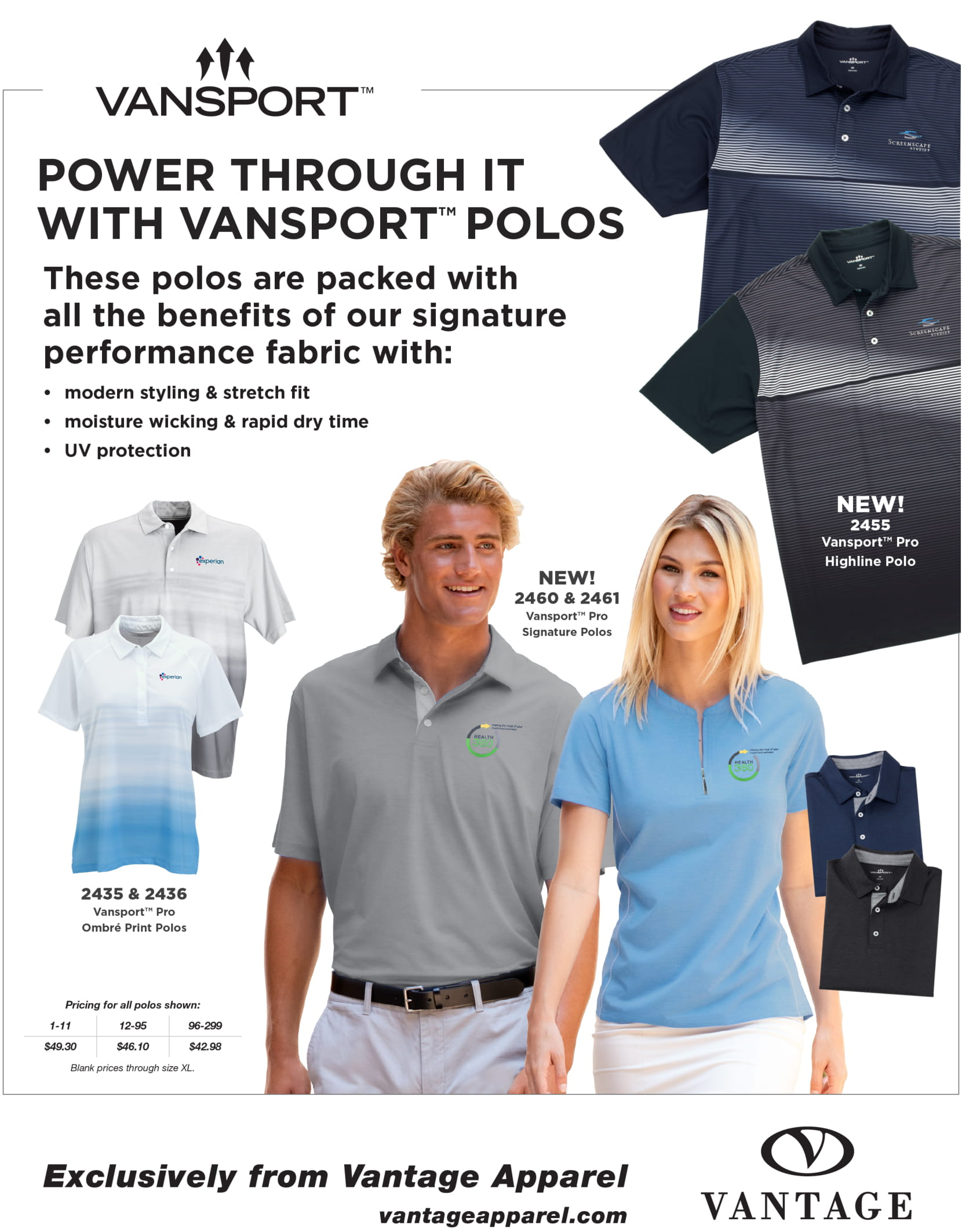 Power Through It With Vansport Polos
