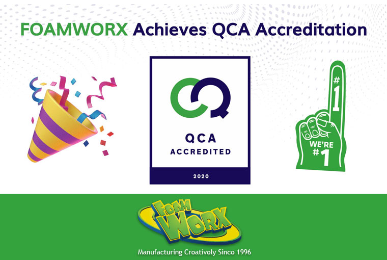 Foamworx Achieves QCA Accreditation