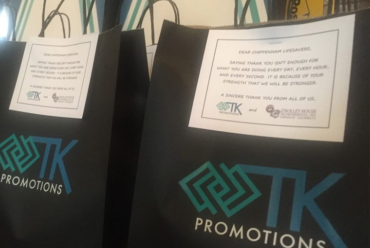 Showing Appreciation, TK Promotions delivered Thank-You Gift Bags