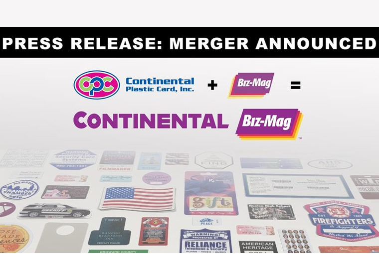 Continental Plastic Card, Biz-Mag Announce Merger