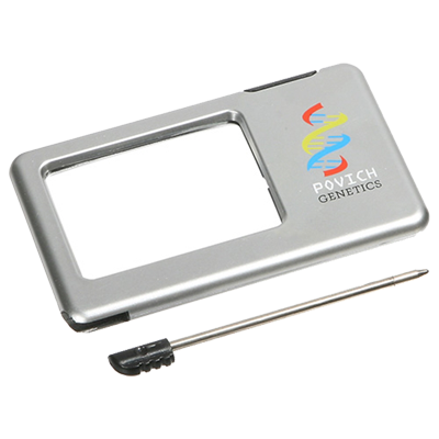 Customized Silver color Thin Light-Up Magnifier